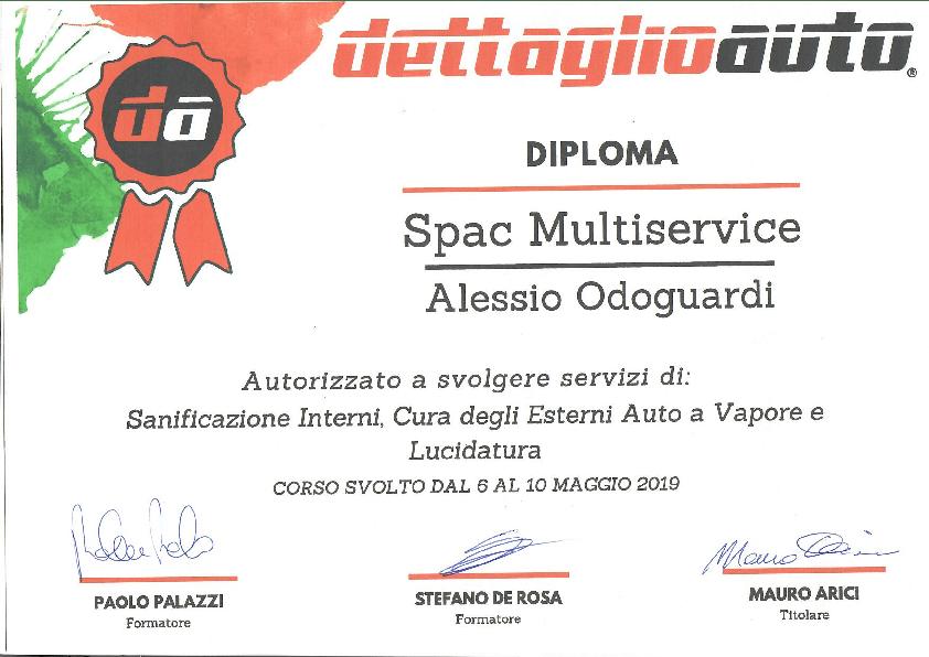 Attestato dettaglio auto Alessio Odoguardi