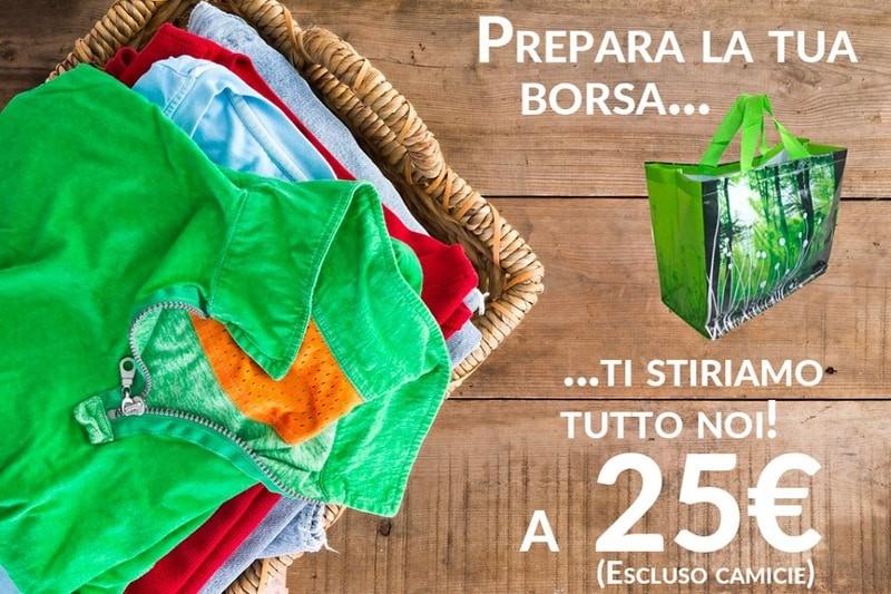 offerta stiro 25€ borsa panni da stirare